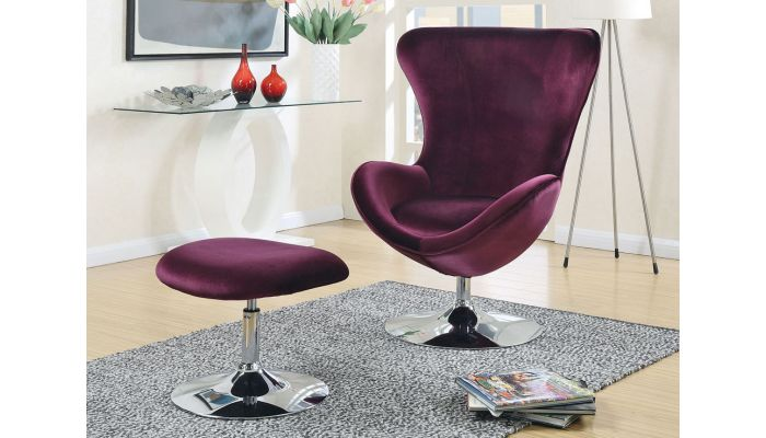 Peachy Midori Purple Fabric Accent Chair Set Gamerscity Chair Design For Home Gamerscityorg