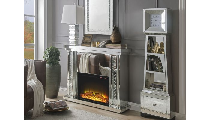 Aanya Mirrored Fireplace