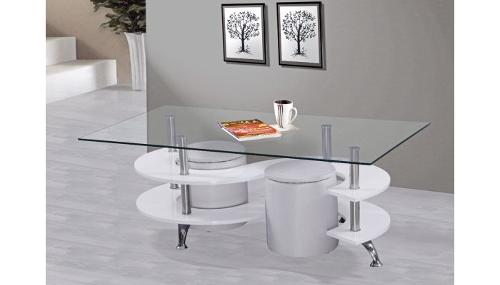 Nest Modern Coffee Table With Stools