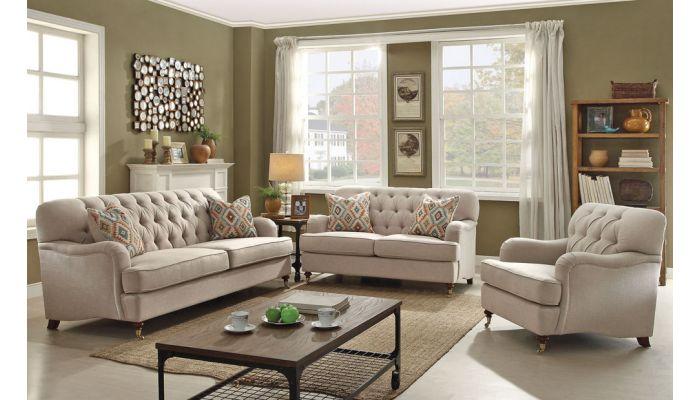 Monaco Linen Fabric Living Room Furniture