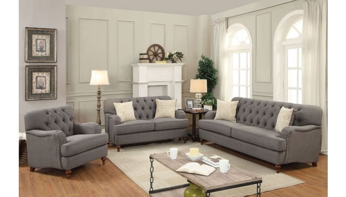 Monaco Grey Fabric Living Room Sofa