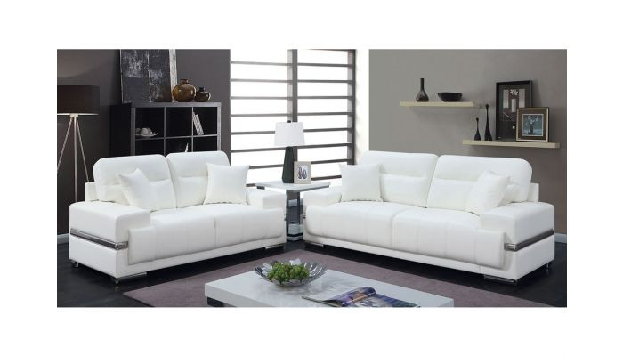 Pleasing Monaco Modern White Leather Sofa Gmtry Best Dining Table And Chair Ideas Images Gmtryco