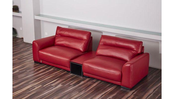 Morena Red Genuine Leather Oversized Sofa
