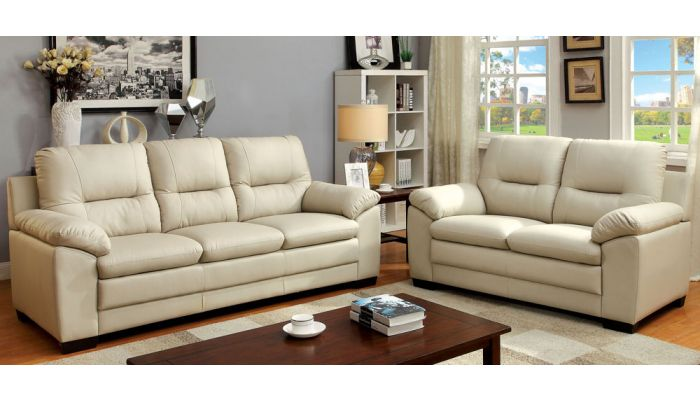 Morton Leatherette Living Room Collection