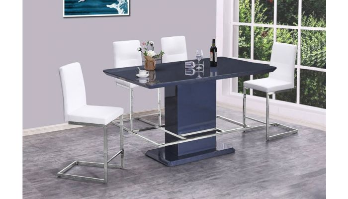 Mull Grey Lacquer Counter Height Table Set