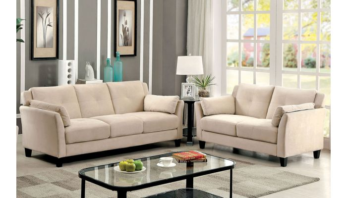 Myra Beige Living Room Furniture