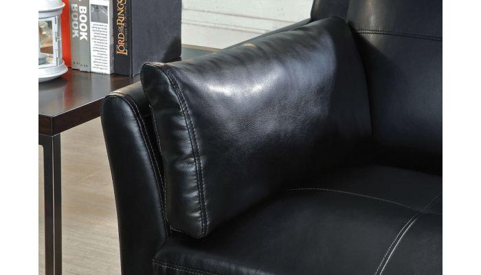 Myra Black Leather Sofa