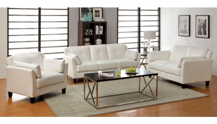 Myra Contemporary Leather Sofa