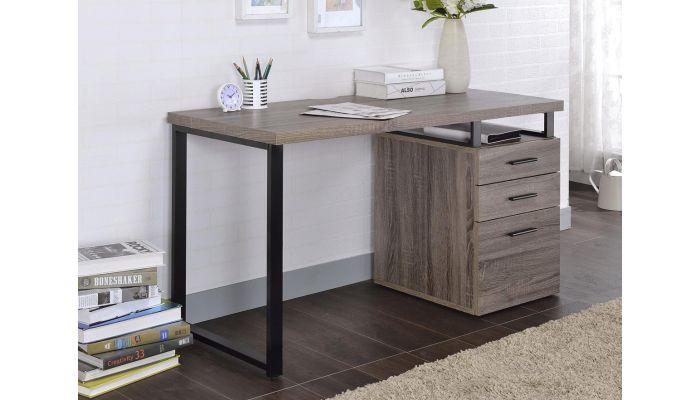 Naco Grey Oak Desk With Reversible Side