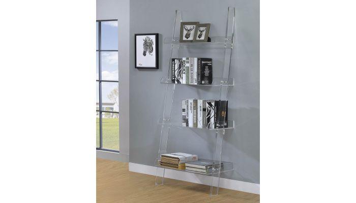 Nelson Clear Acrylic Bookcase