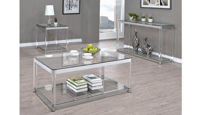Nicson Modern Glass Coffee Table,Nicson Modern Glass End Table,Nicson Modern Glass Sofa Table