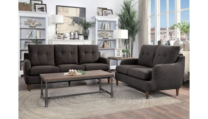 Niles Chocolate Fabric Living Room Furniture