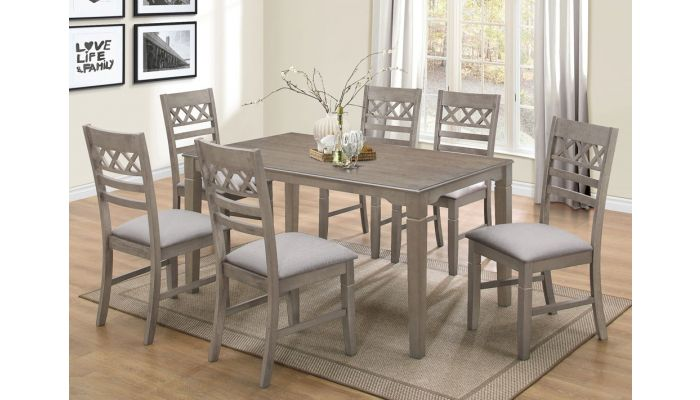 Odeon Antique Grey Dining Table Set