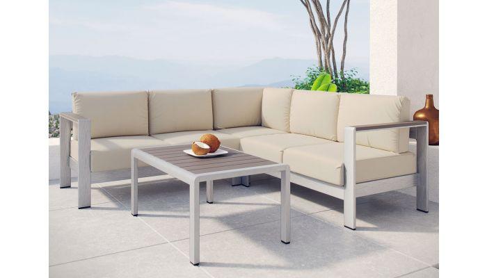 Omnia Beige Outdoor Sectional Set