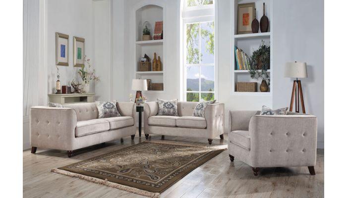 Orel Casual Sofa Grey Fabric