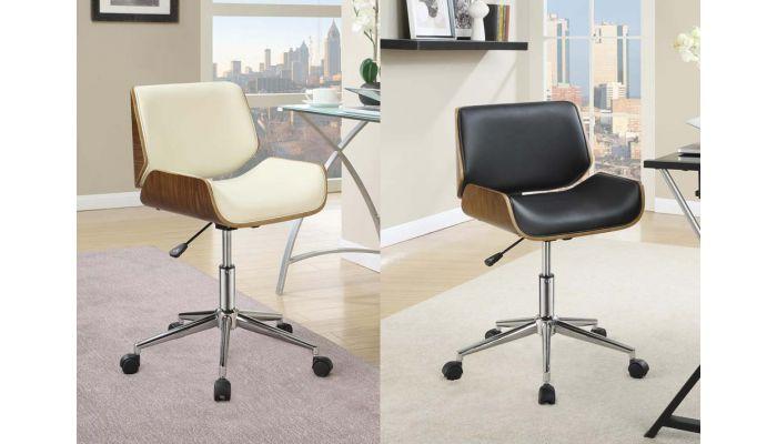 Hilda Modern Office Chair Wood Frame