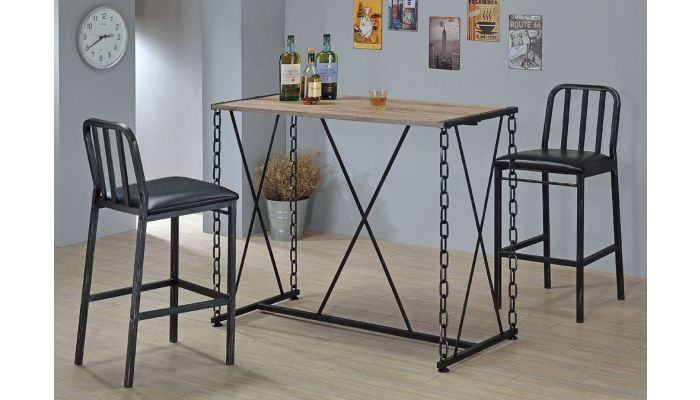 Pablo Industrial Style Bar Table Set