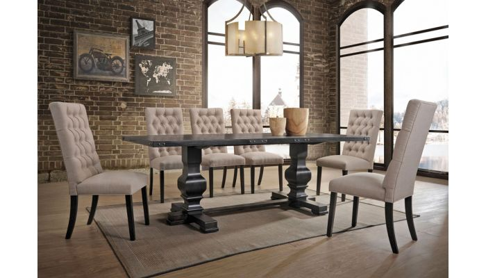 Pacifica Vintage Black Dining Table