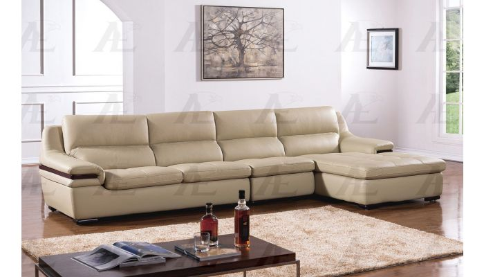 Panda Modern Sectional Genuine Leather