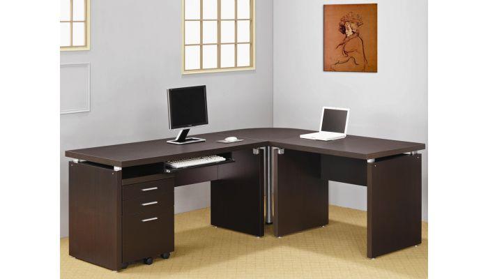Papineau L Shape Home Office Desk