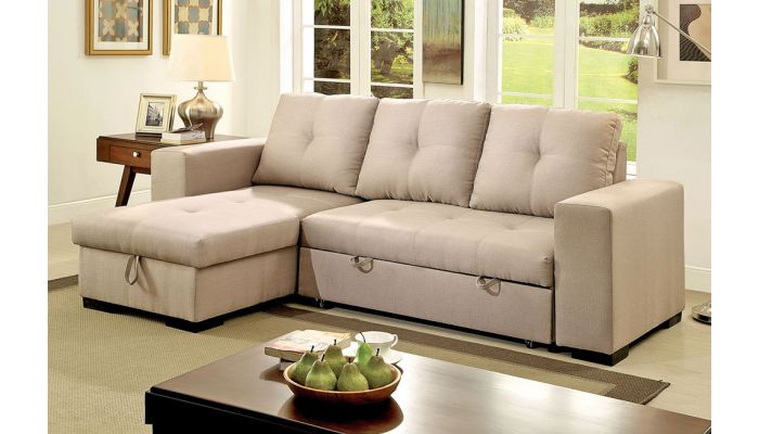 Admirable Patten Sectional With Pullout Sleeper Creativecarmelina Interior Chair Design Creativecarmelinacom