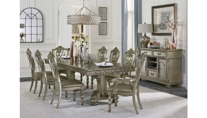 Pecardo Traditional Style Dining Table Set