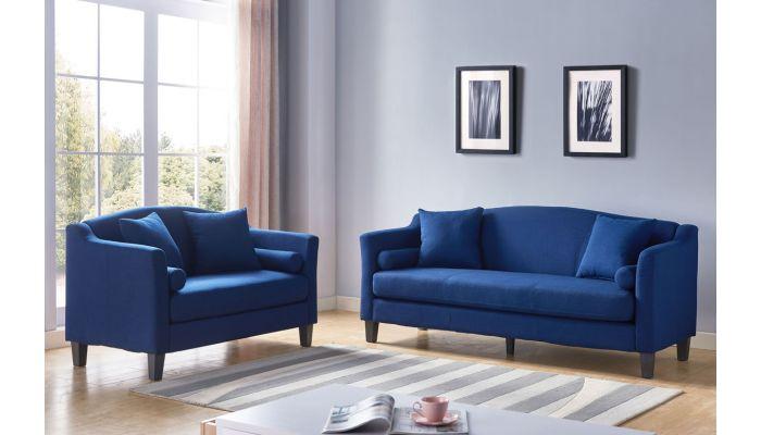 Pedro Royal Blue Linen Sofa