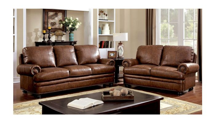 Perkin Top Grain Leather Sofa Collection