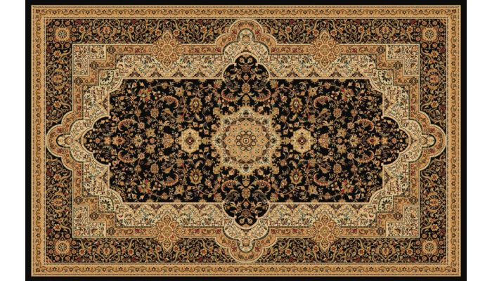 Persian Style Area Rug Collection T06 Black