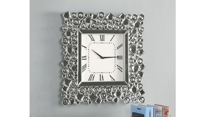 Storm Mirrored Wall Clock