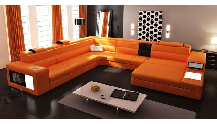 Polaris Modern Sectional With Lights
