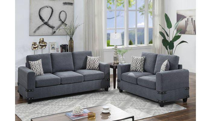 Porter Mid Century Modern Sofa Set
