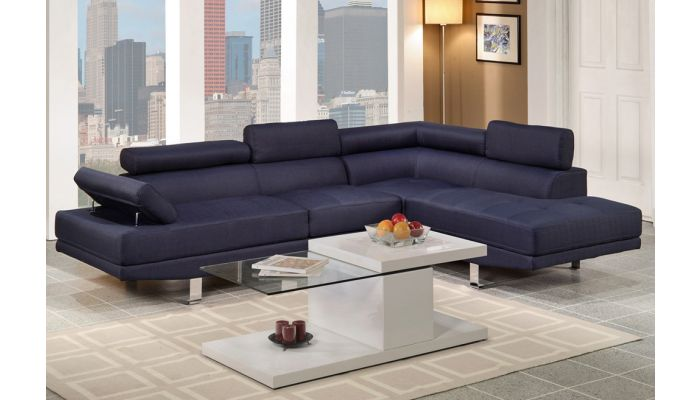 Purity Blue Linen Fabric Sectional