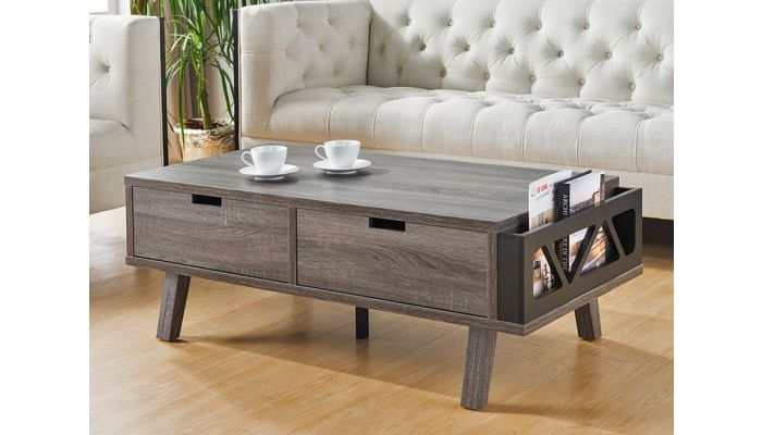 Raeburn Rustic Grey Finish Coffee Table