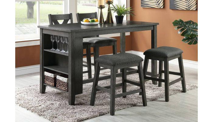 Ramon Kitchen Island Counter Height Table Set