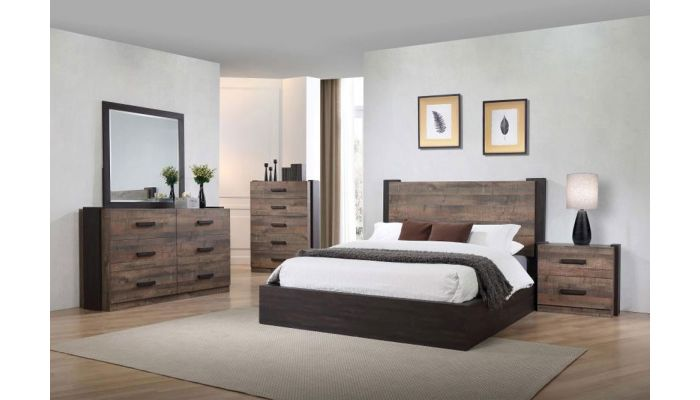 Redondo Rustic Finish Platform Bed