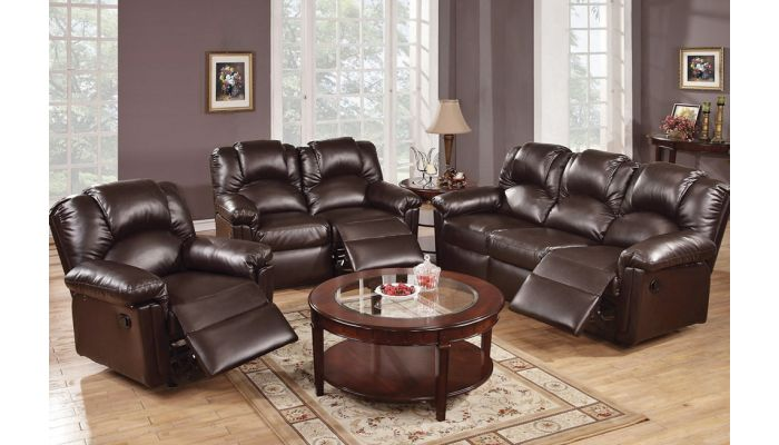 Reed Espresso Leather Motion Sofa