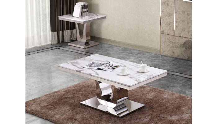 Reyna Marble Top Coffee Table