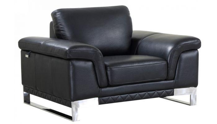Richard Black Leather Modern Sofa