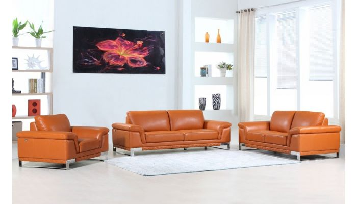 Richard Camel Color Leather Sofa