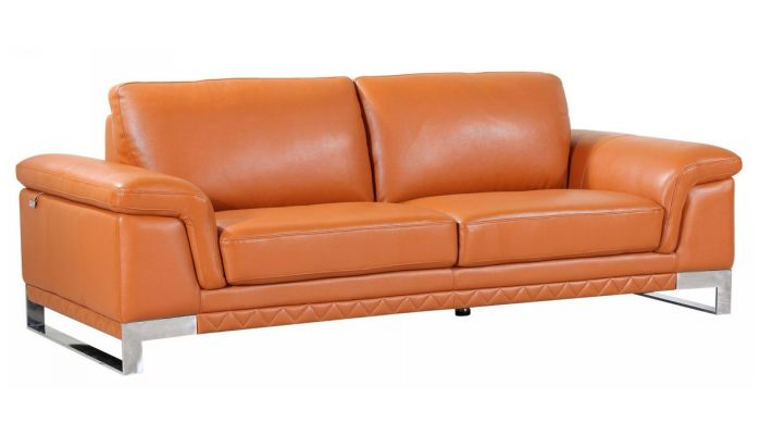 Fine Richard Camel Color Leather Sofa Evergreenethics Interior Chair Design Evergreenethicsorg