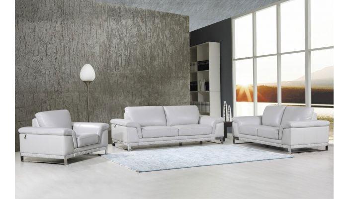 Richard Italian Leather Modern Sofa