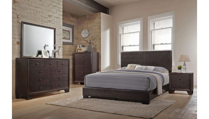 Ridge Contemporary Leather Bed
