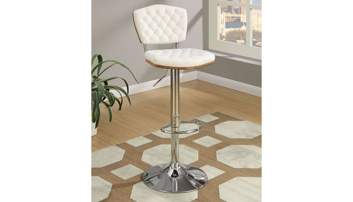 Riga Modern Leather Bar Stool Set of 2