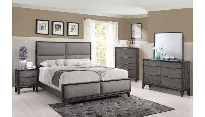 Rigley Bedroom Furniture Rustic Gray Finish