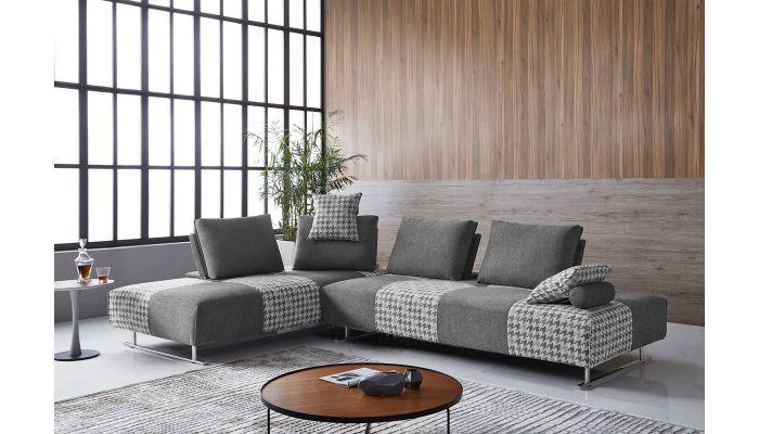 Riva Grey Fabric Modular Sectional Set
