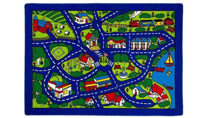 Road Map Kids Room Rug