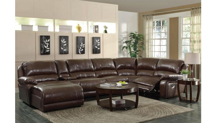 Roberto Recliner Sectional With Console,Console Table