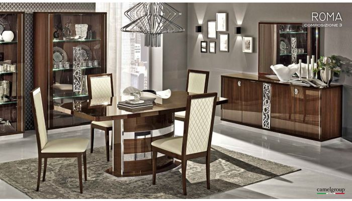 Roma Modern Italian Dining Table Collection