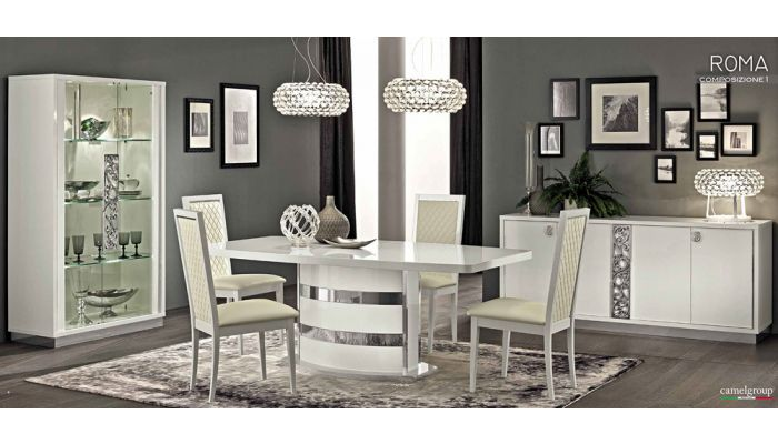 Roma White Modern Italian Dining Table